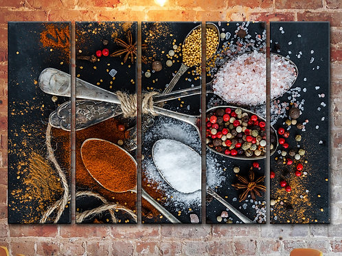 Large Spice and Pepper Wall Art Decor Picture Painting Print 35 by 55 in