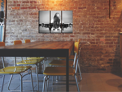 Big Jumbo Jet Boeing-747 Wall Art Decor Picture Painting Print 22 by 33 in