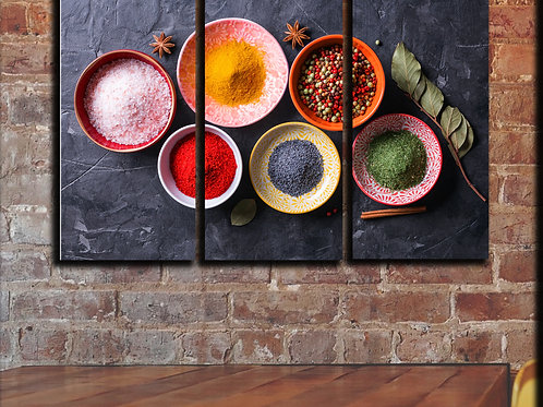 Picture Various Spices Wall Art Decor Picture Painting Print 22 by 33 in
