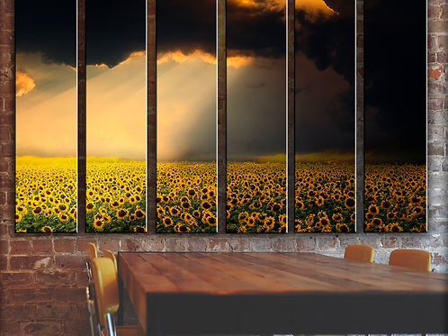 sunflower sky Wall Art Decor Picture Painting Print Creative Art