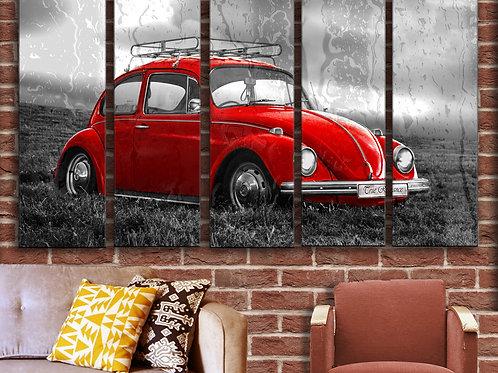 Volkswagen VW Beetle Wall Art Decor Picture Painting Print Vintage Car Art