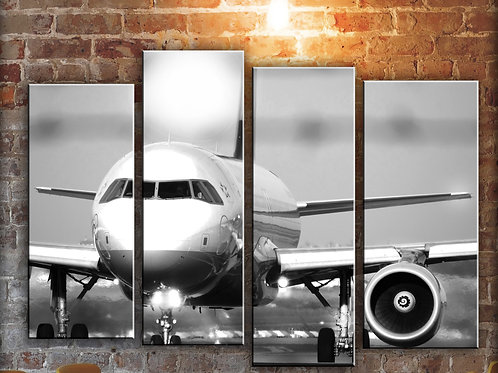 Big Jet Airplane Boeing 737 Wall Art Decor Picture Painting Print 32 by 44 in