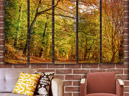 Forest in Autumn Wall Art Decor Picture Painting Print Nature Art