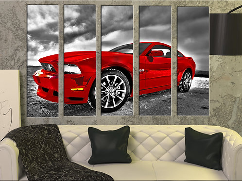Ford Mustang Wall Art Decor Picture Painting Print 35 by 55 in