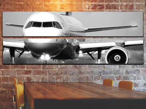 Big Jet Airplane Boeing 737 Wall Art Decor Picture Painting Print 22 by 67 in