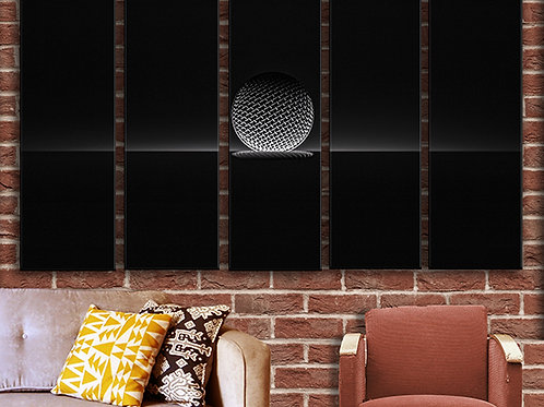 Silent Microphone Wall Art Decor Picture Painting Print Abstraction Art
