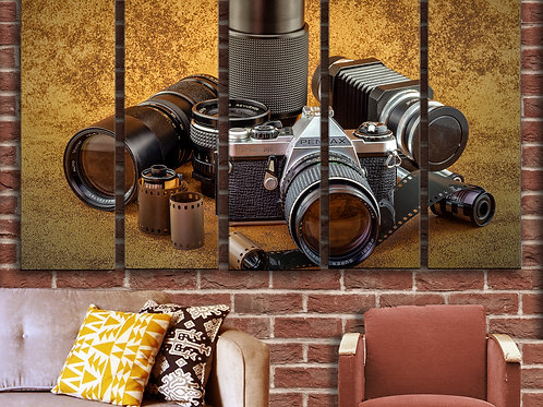 Vintage Camera  Wall Art Decor Picture Painting Print Creative Artist Art