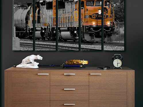 Train Locomotive Wall Art Decor Picture Painting Print 35 by 55 in