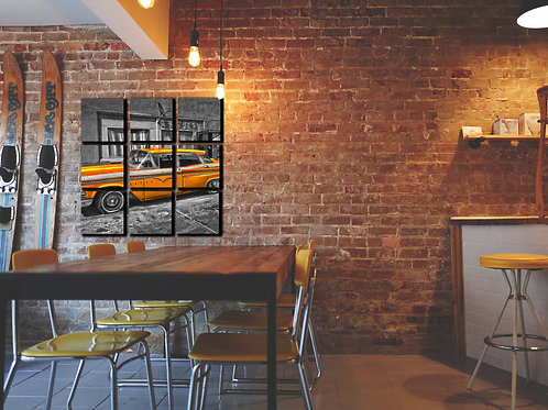 Taxi Cab Wall Art Decor Picture Painting Print Vintage Car Art