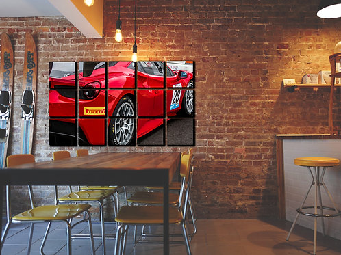 Ferrari 488 GT3 Wall Art Decor Picture Painting Print Sport Car Art