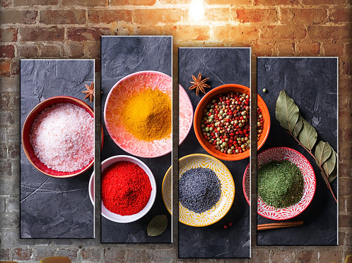 Large Various Spices Wall Art Decor Picture Painting Print 32 by 44 in