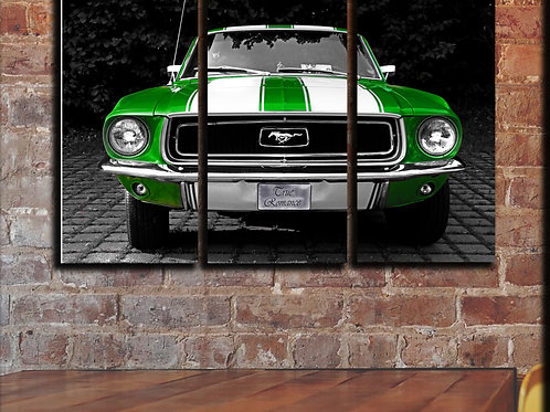 Picture Green Ford Mustang Wall Art Decor Picture Painting Print 22 by 33 in