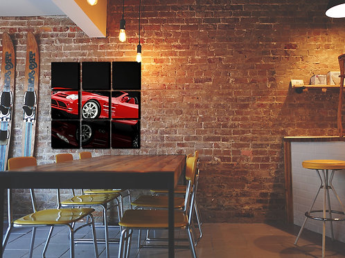 Black'n'red Wall Art Decor Picture Painting Print Sport Car Art