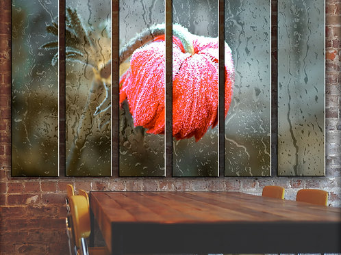 Frozen Flower Wall Art Decor Picture Painting Print Flowers and Nature Art
