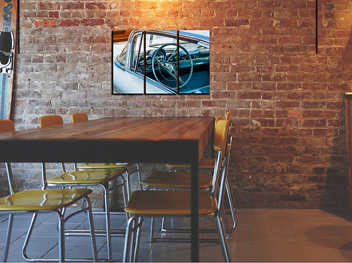 Classic American Muscle Car Wall Art Decor Picture Painting Print 3p, 22x33