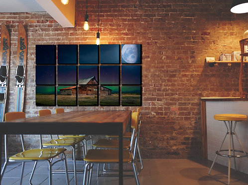 Moon Sky Wall Art Decor Picture Painting Print Nature Art