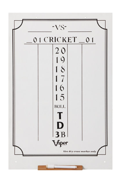 Large Cricket Dry Erase Scoreboard