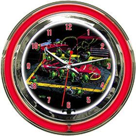 Nascar Neon Clock