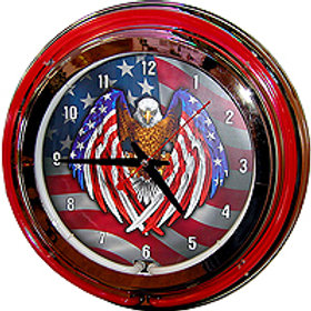 American Eagle Flag Clock