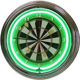 Neon Dartboard Clock