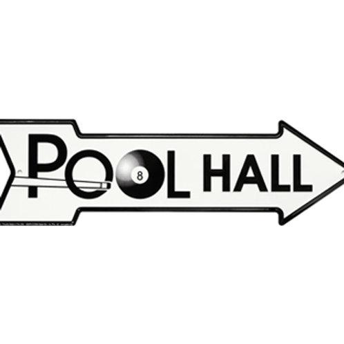 Embossed Metal Pool Hall Sign