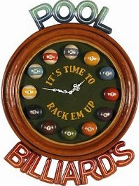 It's Time to Rack 'Em Up - Pool Clock