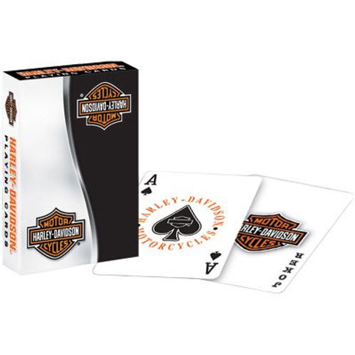 Harley Davidson Black & Gray Playing Cards