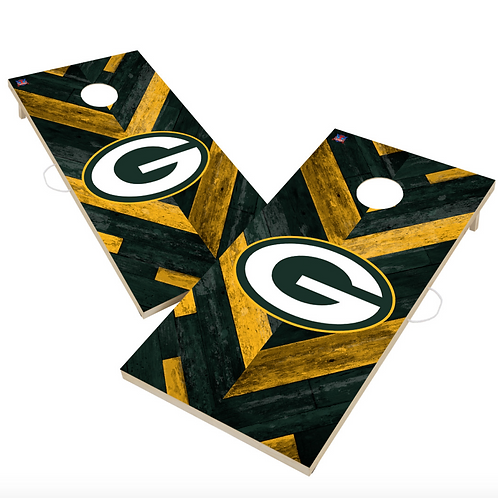 Green Bay Packers 2x4 Licensed Regulation Cornhole Set Standard