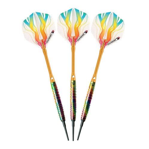 Elkadart Rainbow Soft Tip Ringed Barrel Darts