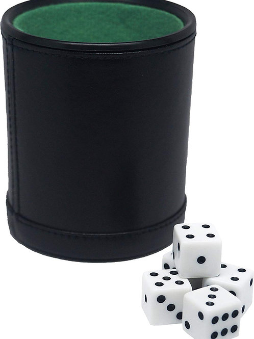 Fat Cat Dice and Leatherette Dice Cup