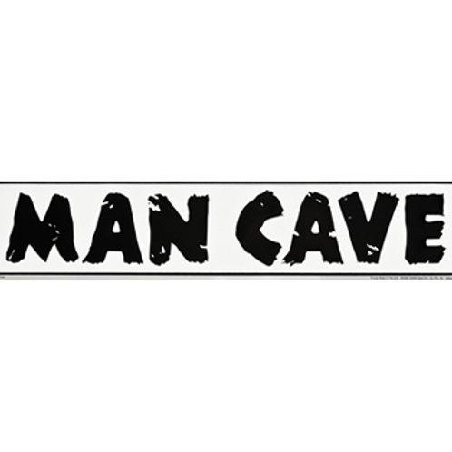 Embossed Metal Man Cave Sign
