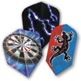 2-D Glitter Dart Flights Assortment