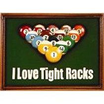 I Love Tight Racks Three-Dimensional Pub Sign