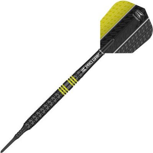 Target Vapor8 Black Yellow Soft Tip Darts