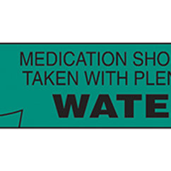 LABEL: MEDICATION SHOULD BE TAKEN WITH WATER