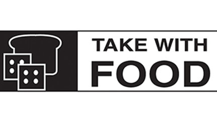 LABEL: TAKE WITH FOOD