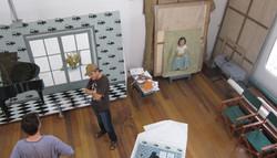 Antipas Delotavo at his studio
