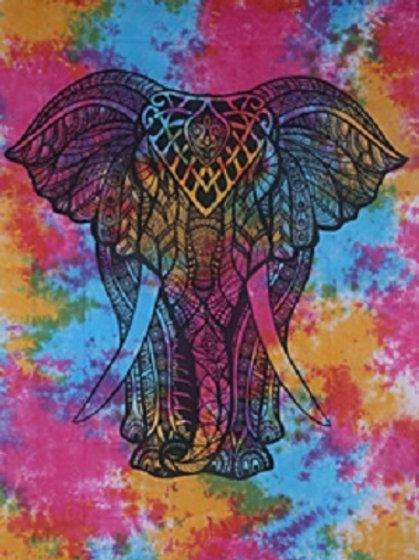 Elephant Twin Tapestry - Multi