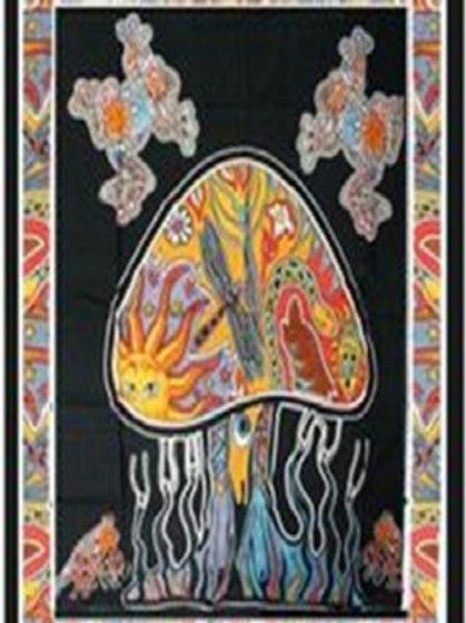 Mushroom Twin Tapestry