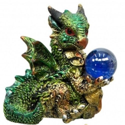Dragon with Sphere 2 inch