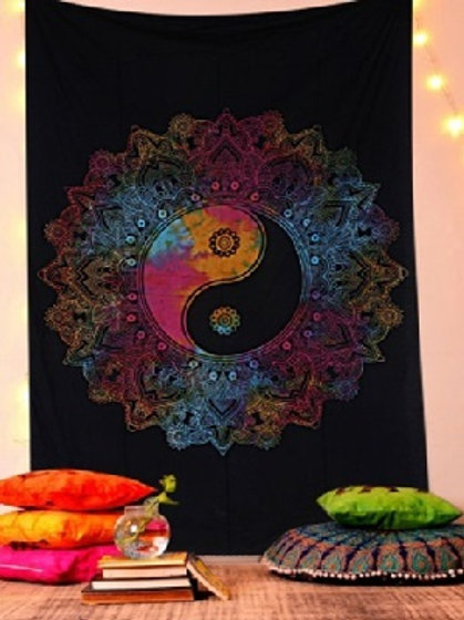 Ying Yang Twin Tapestry