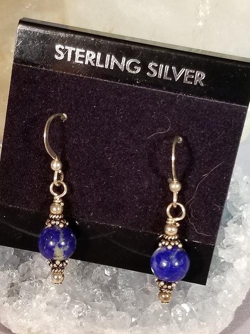 Earrings: Sodalite in sterling silver