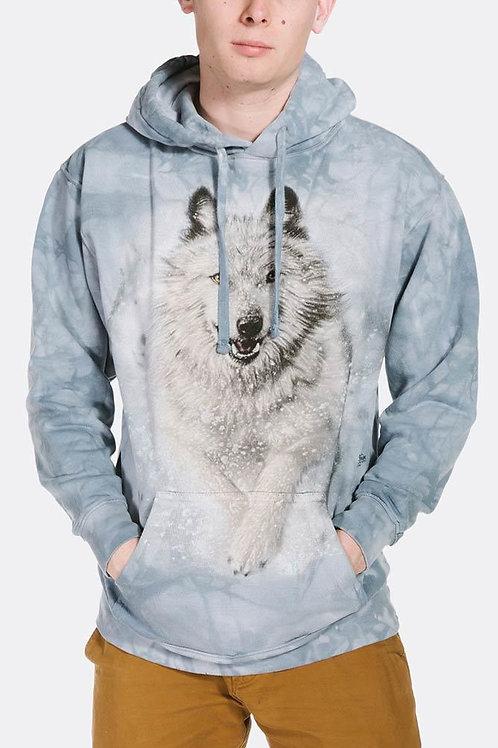 Wolf-Snow Plow Hoodie-Adult