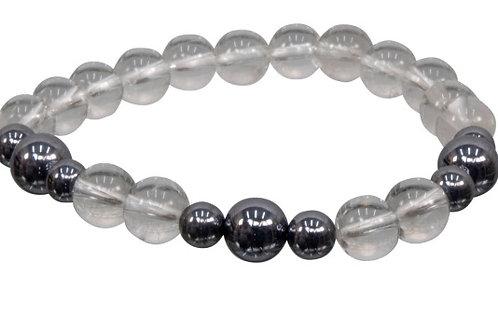 Bracelet:  Semi-precious 8mm stones and Terahertz