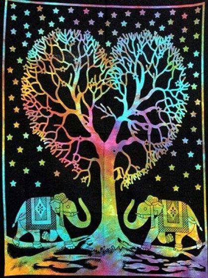 Elephants under Heart Tree
