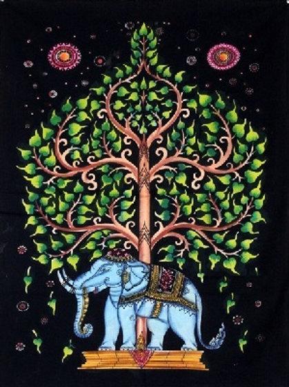 Elephant under Tree Premium