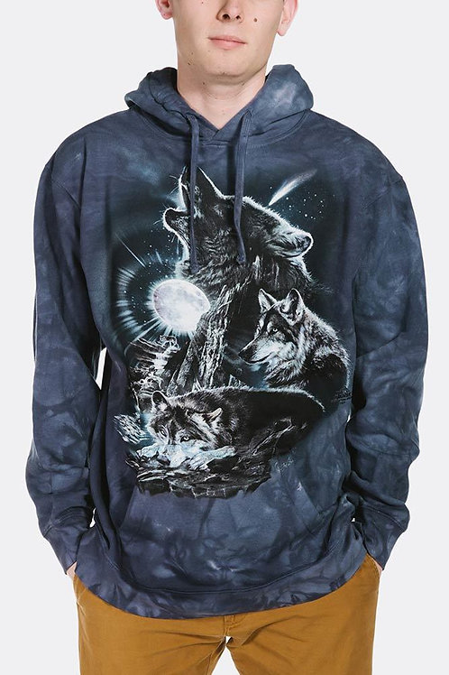 Wolf-Bark at the Moon Hoodie-Adult