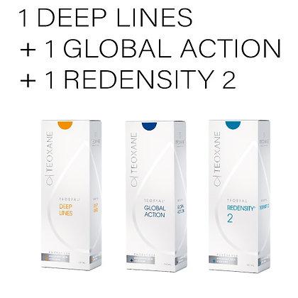1 DEEP LINES 2 Jer. 1ml. + 1 GLOBAL ACTION 2 Jer. 1ml. + 1 REDENSITY 2 2 Jer. 1m