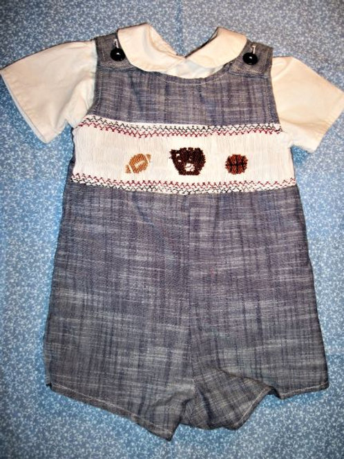 Boys  Sports short Button Suit and Shirt, 6 months