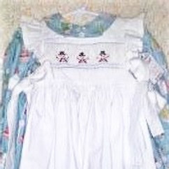 Snowman on Snowman Dress and Pinafore, Size 12 months